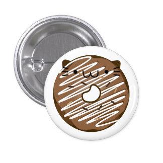 Botão da rosquinha do gato do chocolate bóton redondo 2.54cm