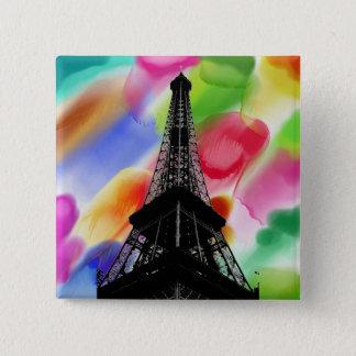 Botão da torre Eiffel Bóton Quadrado 5.08cm