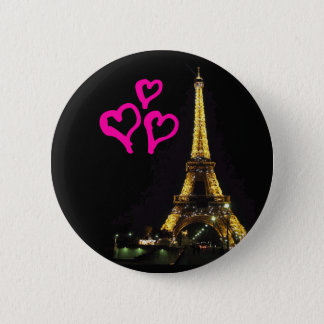 Botão da torre Eiffel Bóton Redondo 5.08cm