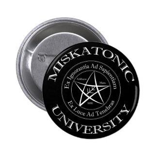 Botão da universidade de Miskatonic Bóton Redondo 5.08cm