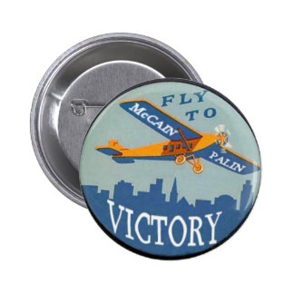 Botão da vitória de McCain/Palin Bóton Redondo 5.08cm