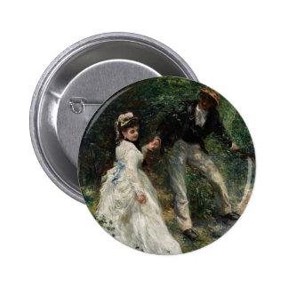 Botão das belas artes da pintura de Renoir do Bóton Redondo 5.08cm
