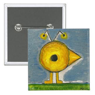 Botão de BIRDMAN Bóton Quadrado 5.08cm