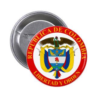 Botão de brasão colombiano bóton redondo 5.08cm