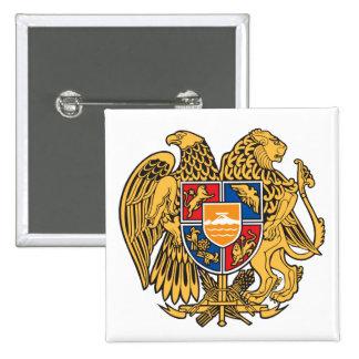 Botão de brasão de Arménia Bóton Quadrado 5.08cm