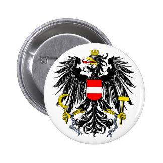 Botão de brasão de Áustria Bóton Redondo 5.08cm