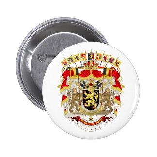 Botão de brasão de Bélgica Bóton Redondo 5.08cm