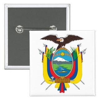 Botão de brasão de Equador Bóton Quadrado 5.08cm