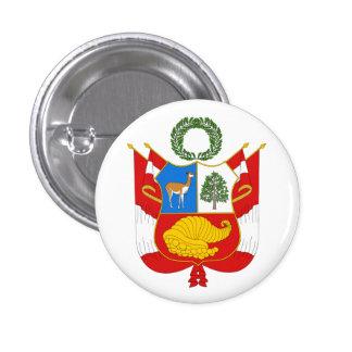 Botão de brasão de Peru Bóton Redondo 2.54cm