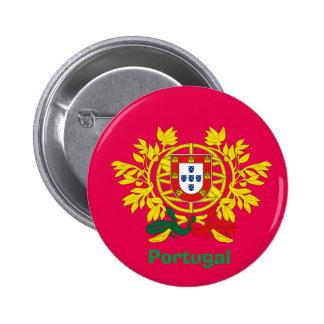 Botão de brasão de Portugal Bóton Redondo 5.08cm