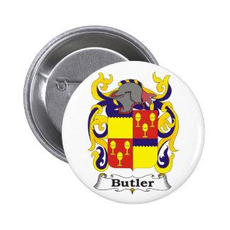 Botão de brasão do mordomo bóton redondo 5.08cm