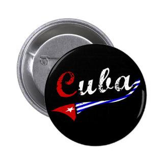 Botão de Cuba com cores cubanas da bandeira Bóton Redondo 5.08cm