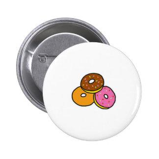 Botão de Cutie das rosquinhas dos desenhos animado Bóton Redondo 5.08cm