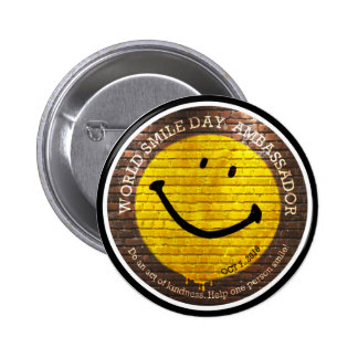 Botão de Day® 2016 do sorriso do mundo Bóton Redondo 5.08cm