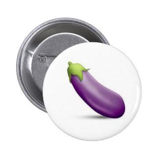 Botão de Emoji da beringela Bóton Redondo 5.08cm