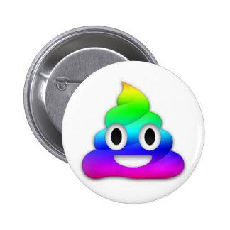 Botão de Emoji do tombadilho do arco-íris Bóton Redondo 5.08cm
