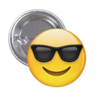 Botão de Emoji dos óculos de sol Bóton Redondo 2.54cm