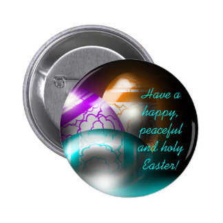 Botão de incandescência dos ovos da páscoa botons