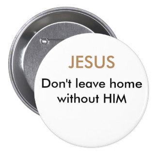 Botão de Jesus Bóton Redondo 7.62cm