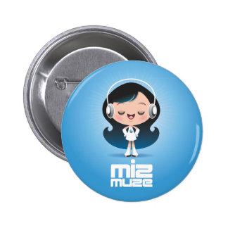 Botão de Miz Muze Bóton Redondo 5.08cm
