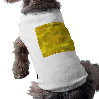 Botão de ouro camisa sem mangas para cachorro