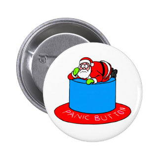 Botão de pânico de Papai Noel Bóton Redondo 5.08cm