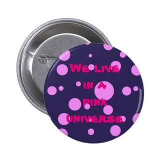 Botão de Pinback com design cor-de-rosa das Bóton Redondo 5.08cm