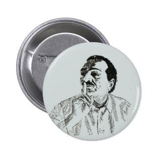 Botão de Pinback do silêncio do babá de Meher Bóton Redondo 5.08cm