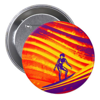 Botão, design abstrato do por do sol bóton redondo 7.62cm
