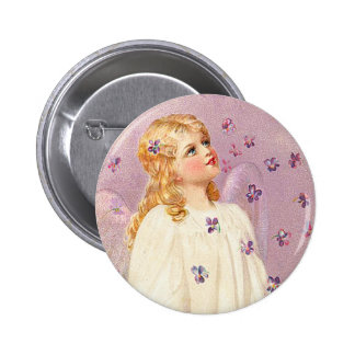 Botão do anjo da páscoa do Victorian Bóton Redondo 5.08cm