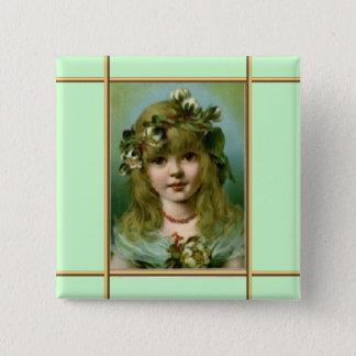 Botão do anjo do Victorian Bóton Quadrado 5.08cm