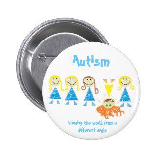 Botão do autismo bóton redondo 5.08cm