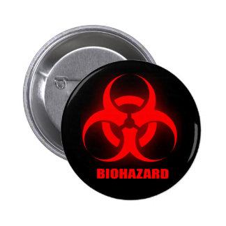Botão do Biohazard Bóton Redondo 5.08cm