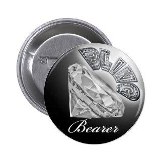 Botão do casamento do portador de BLING Bóton Redondo 5.08cm