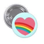 botão do coração do arco-íris 80s boton