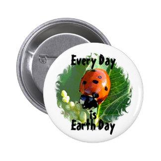 Botão do Dia da Terra do joaninha Boton