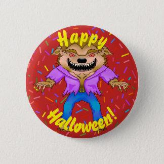 Botão do Dia das Bruxas do homem-lobo Bóton Redondo 5.08cm