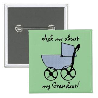 Botão do dom do carrinho de bebê azul botons
