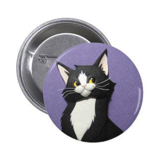 Botão do gatinho do smoking bóton redondo 5.08cm