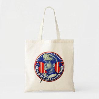 Botão do general Douglas MacArthur do kitsch do Sacola Tote Budget