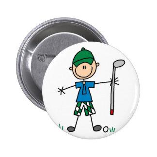 Botão do golfe do esporte bóton redondo 5.08cm