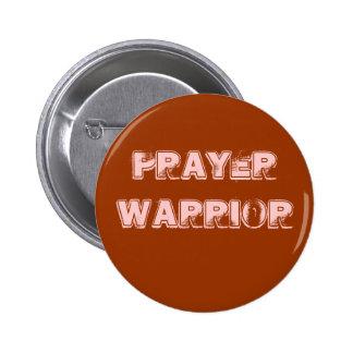 Botão do guerreiro da oração bóton redondo 5.08cm