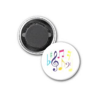 Botão do ímã dos símbolos de música ímã redondo 2.54cm