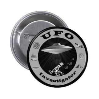 Botão do investigador do UFO Bóton Redondo 5.08cm