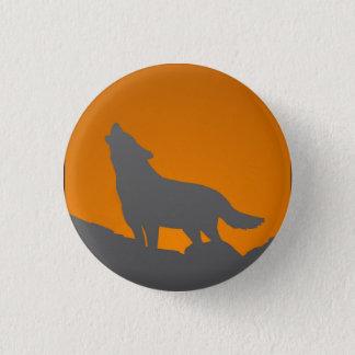 Botão do lobo do urro bóton redondo 2.54cm
