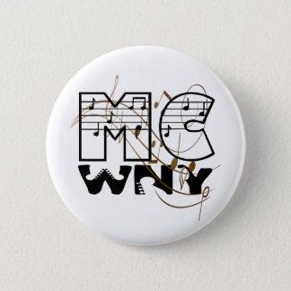 Botão do logotipo de MCWNY Bóton Redondo 5.08cm