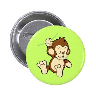 Botão do macaco bóton redondo 5.08cm