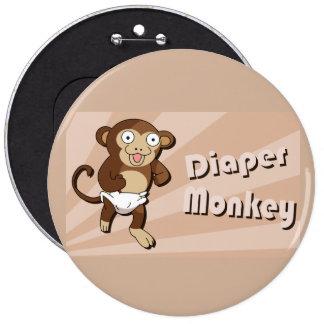 Botão do macaco da fralda botons