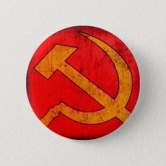 Botão do martelo e da foice de URSS do comunismo Bóton Redondo 5.08cm