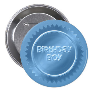 Botão do menino do aniversário bóton redondo 7.62cm